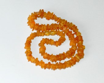 Genuine Baltic amber ! Baltic Amber Jewelry made of amber - Necklace 45cm long.
