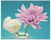 OVERSTOCK SALE - 50% OFF - 8x10 - Floral photography - floral wall art - flower room decor - purple teal aqua pink - floral fine art print