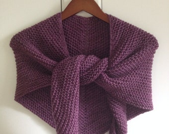 Hand Knit Autumn Wrap, Grapes of Wrath
