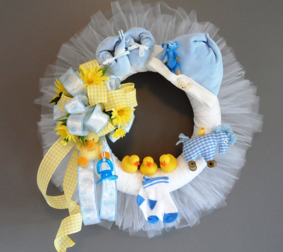 Popular Items For Nursery Decor On Etsy Baby Shower: Items Similar To Blue Baby Wreath, Baby Shower Decor, Baby