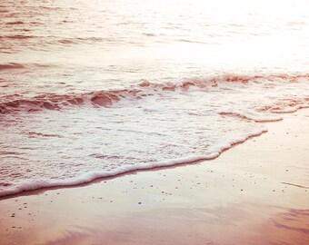 ocean photography beach nautical decor 8x10 fine art photography nature golden sunset beach print nature photography sea beige cream pastel