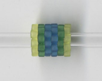 Woven Glass (Dread) Bead ... ... ... ... ... 10mm/o-7mm/i ... ... ... ... ... 12x16 * 200