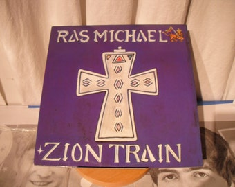 Ras Michael Zion Train 1988 SST Records Nyabinghi Drummer Rastafarian Singer Of Songs with the Sons Of Negus Traditional Nyabinghi Band