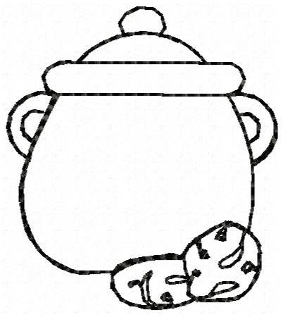 Outline Cookie Jar Clipart