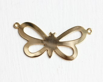 Gold Butterfly Charm, Butterfly Necklace Charm, Necklace Charm