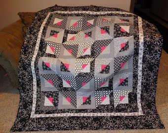 Graphic Black and White Quilt