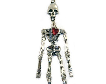 Femme Fatale Jointed Skeleton Necklace