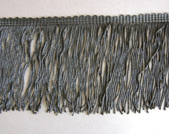 1.5yds of 3 3/4 inch Black Chainette Fringe