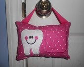Hot Pink Polka Dot Tooth Fairy Pillow