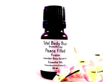 Essential Oil - Aromatherapy Oil - Peace Filled Fusion Blend Oil - Lavender Rose Geranium - Soapmaking Supply - Lotion Massage Supply
