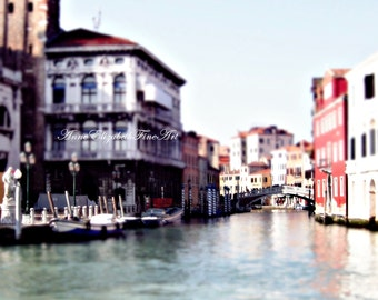 Venice Photography, 8 x 10 Fine Art, Grand Canal, Venetian, Romantic,Bridge, Gondola, Water,Boat, Italian, Italy,Colors,Architecture, Wine