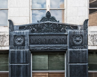 Fort Worth, Texas, Building, Architecture, Art Deco - Lone Star Gas Co Entrance