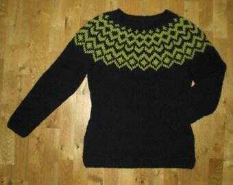 Icelandic womens sweater/pullover, handmade with 100% pure Icelandic wool, XS-S-M-L-XL-2XL-3XL-4XL-5XL-6XL, made to order