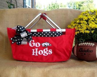 Fun gift idea large Market Basket - tailgating, picnics, storage, organizing, toys-- Personalized FREE