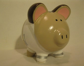 Star Wars Piggy Bank, Personalized, Handpainted, Padme Piggy Bank - MADE TO ORDER