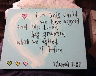 For this child...11 x 14 canvas