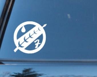 Star Wars Boba Fett Mandalorian Insignia inspired car decal
