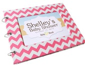 Baby Shower Guest Book - Pink Chevron