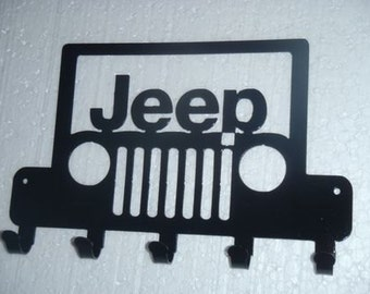 Key Rack Jeep Metal Art