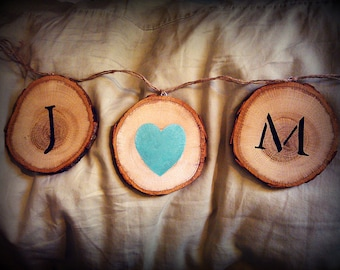 Couple's Initials - Personalized Wood Cut Sign, Wedding, Shower, Home Decor, Photo Prop