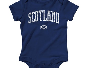 Baby Scotland One Piece - Infant Romper - NB 6m 12m 18m 24m - Scotland Baby - 3 Colors