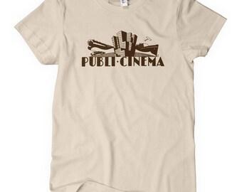 Women's Publi Cinema T-shirt - S M L XL 2x - Vintage Spanish Sign Ladies' Tee - Art Deco - 3 Colors