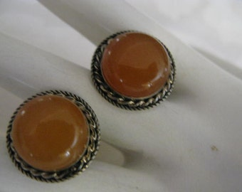 Collectible Soviet Union Era Factory Sealed/Tag~Butterscotch Amber Cufflinks