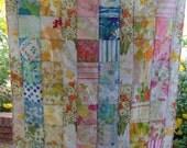 Block/stripe baby/toddler quilt