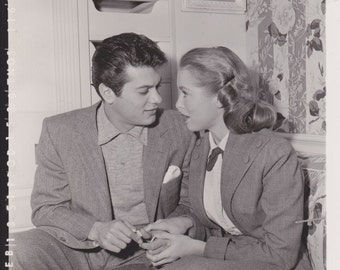 Janet Leigh Tony Curtis 13 February 1951 4x5 one of a kind Photo 600 ppi uncompressed TIFF