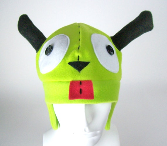 Invader Zim -  Gir - Beanie  - Comics Hat - Halloween Hats - Costumes