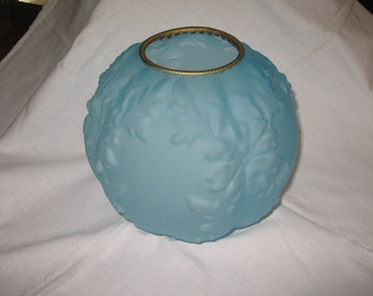 Frosted Light Blue Lamp Shade/ Light Fixture