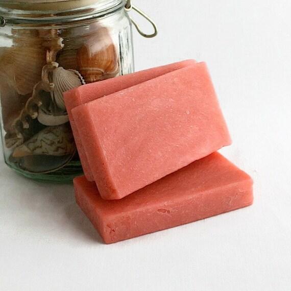 Pomegranate Soap, Bar Soap, Olive Oil Soap, Gift Soap, Bath Soap, Handmade Soap, Hot Process Soap, Pink Soap, Homemade Soap