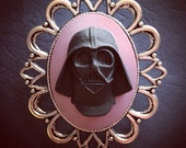 Darth Vader Cameo Brooch 40x30mm Silver Plated