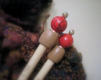 Wooden Knitting Needles - Size US 11