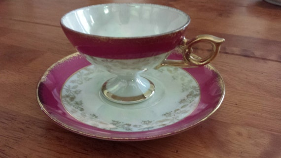 Lefton China Hand Painted Tea Cup
