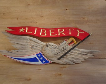 Bellamy Eagle with Liberty Banner