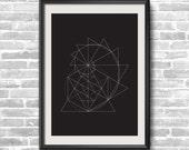 Golden Spiral Geometric print - 11 x 16