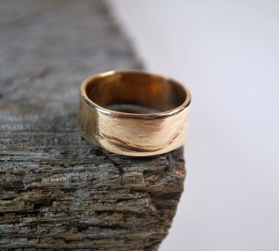Mens Wedding Band - Mens Wedding Ring - 14K Gold Mens Wedding Band - Mens Gold Wedding Ring