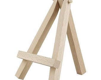 Mini Wooden Easel - Display Painting Craft - Decorate Gift - 12cm High