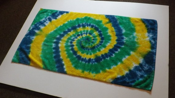 Tie Dye Bath Towel Choose Any Colors By Originalaccents On Etsy