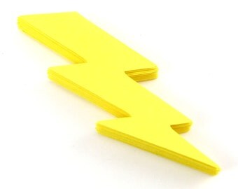 "3.45"" Lightning Bolt Die Cuts set of 25"