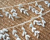 Cotton Fabric Lace Trim- White Vintage Retro Cotton Lace Bags and Purse Supplies 2 yards
