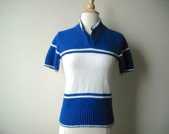 Vintage Cheerleader Sweater Short Sleeves