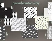 Curtain Drapery Panels Pair Lined Modern Premium Black White Fabrics Tribal Woodland Arrow Cloud