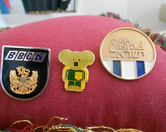 Rare 1984 S.Olympics Broadcaster Pins, Dlrs54 EACH