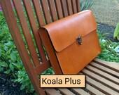 "Portfolio/Brief Case Genuine Leather Handmade ""The Koala Bear Plus"" in Saddle Tan"
