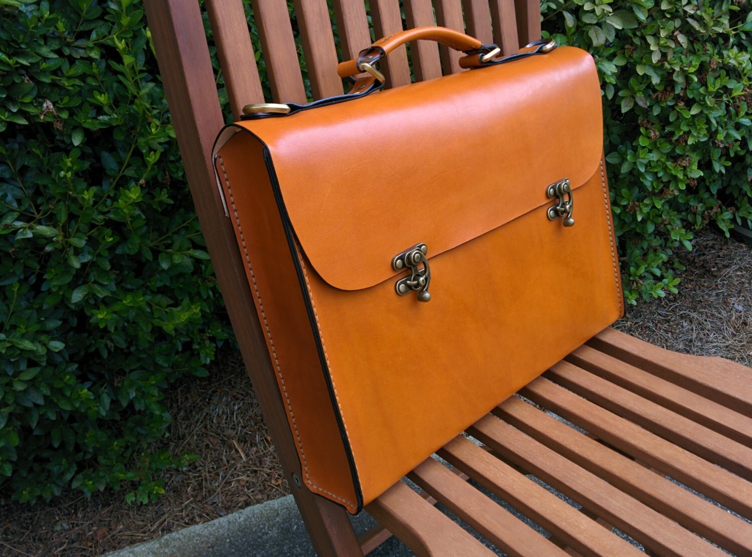 handmade leather briefcase made in usa leather briefcase handmade in the usa large the 4535