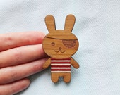 SALE - Pirate Bunny Brooch