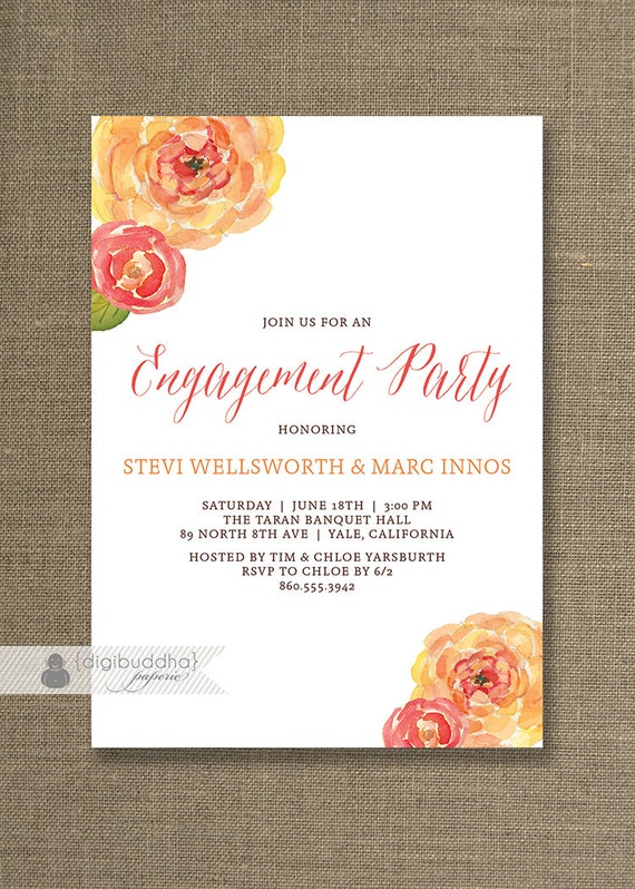 free engagement party invitations – frenchkitten, Birthday invitations