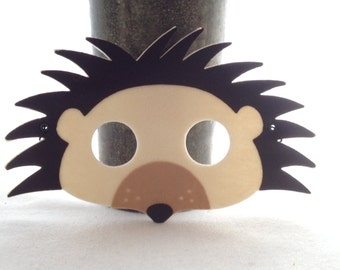 woodland animal masks template - hedgehog mask etsy